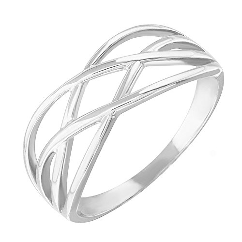 Modern Contemporary Rings High Polish 925 Sterling Silver Celtic Knot Ring for Women (Size 8.5)