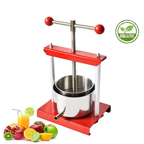 SQUEEZE master Mini Obstpresse 3L Obst Wein Presse, Pressung für Trauben, Obst, Fleisch, Herbs,Fett, Gemüse Käseherstellung, Edelstahl