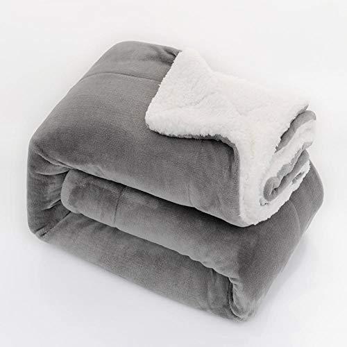 TopTree sofadecken Decke - Hochwertige, Grau superweiche Fleecedecke als Sofaüberwurf, Tagesdecke oder Wohnzimmerdecke 130x160cm