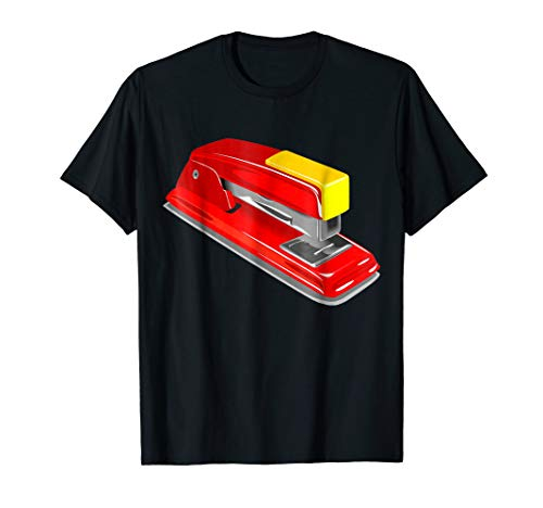 Stapler Costume T-Shirt Funny Office School Stapling Gadget