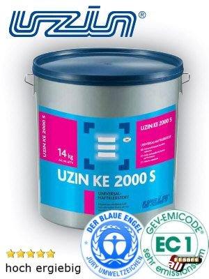Uzin Universal-Fussboden-Kleber KE 2000 S Ökoline Dispersionskleber für Teppichboden, PVC, Linoleum Preis/kg, 6 kg/Eimer Verbrauch 200 – 350 g/m², Preis pro kg