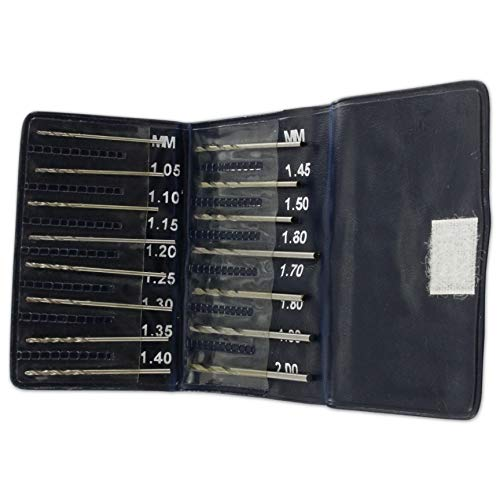 Jewellers Tools H.S.S Drill Bits Watch Jewellery Repair Tool Set Of 15 1.05 MM To 2 MM
