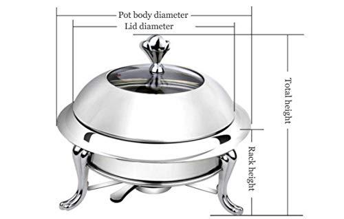 RVS Chafing Gerechten Pan Commerciële Ronde Set Voedsel Warmer Deksel 28cm