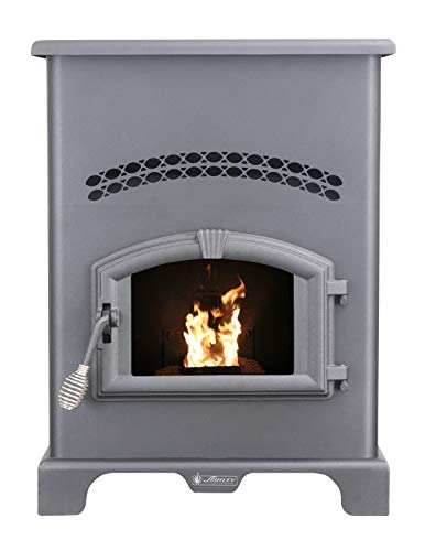 Ashley Hearth Products AP130 2,200 Sq Ft EPA Certified Pellet Stove with 130 lb Hopper, Black