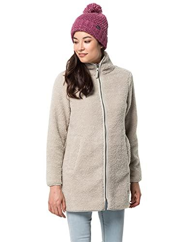 Jack Wolfskin Damen HIGH CLOUD COAT W Fleecemantel, dusty grey, L