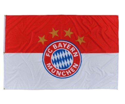 FC Bayern Hiss Fahne Originalware Flagge 180 x 120 cm Motiv Logo mit 3 Ösen