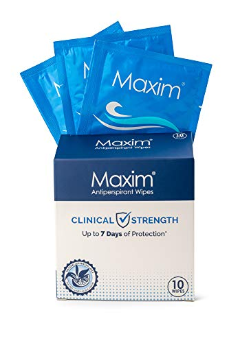 Maxim Antiperspirant Towelette Antiperspirant - Prescription Strength Wipes (1-Pack)