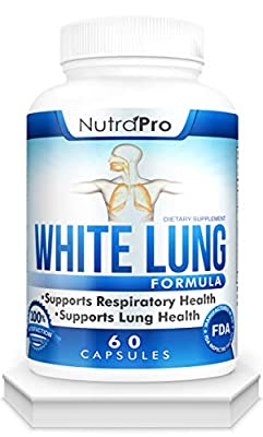 White Lung by NutraPro - Lung Cleanse & Detox.Support Lung Health. Supports Respiratory Health. 60 Capsule - Made in GMP Certified Facility. from Nutrapro
