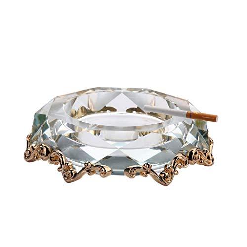 WGZ- Alloy Crystal glazen asbak Gift Living Room Vaderdag 20CM Diameter Home