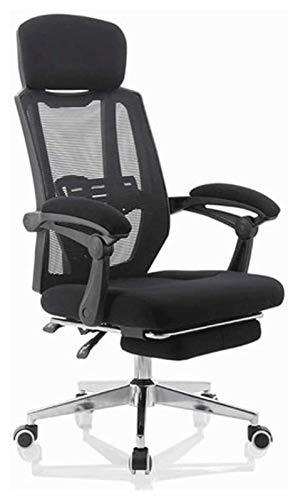 JCCOZ - URG - Silla de oficina reclinable giratoria para oficina, silla de juegos ergonómica, respaldo de malla, silla giratoria, cómoda silla URG (color: negro)