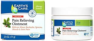 Earth's Care Pain Relieving Ointment - Triple Action Muscle and Joint Pain Relief Cream - Topical Analgesic 2.5 oz. (71 g)