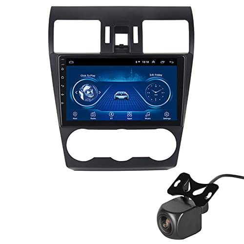 GLXQIJ para Subaru Forester 2012-2015 Android 10.0 FM Radio Receptor Auto Audio Player Coche Estéreo De 9 Pulgadas Pantalla Táctil Monitor GPS Navegación, 4 Core +WiFi, con Camara Trasera,1+16G