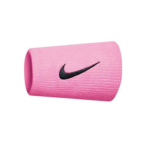Nike Unisex– Erwachsene Swoosh Doublewide Schweißbänder, pink Gaze/Oil Grey, One Size