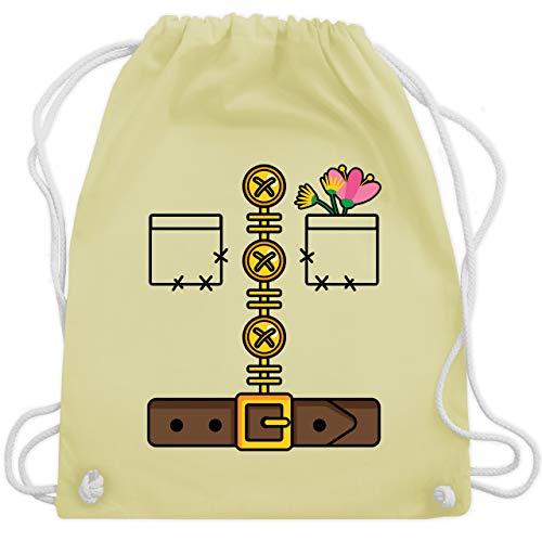 Shirtracer Karneval & Fasching - Zwerg Kostüm - Unisize - Pastell Gelb - zwerg fasching - WM110 - Turnbeutel und Stoffbeutel aus Baumwolle