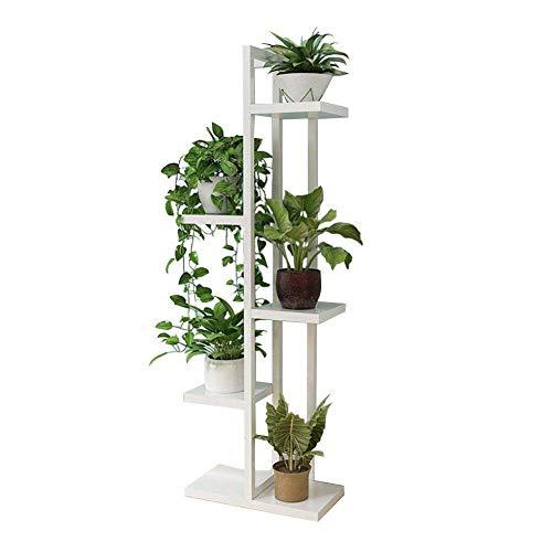 MingXinJia Soporte para Flores, Soporte de Exhibición de Plantas Decorativas, Soporte de Metal, Estante de Almacenamiento de Estantes Multifunción, 6 Soportes para Macetas para Interiores Y Exteriore