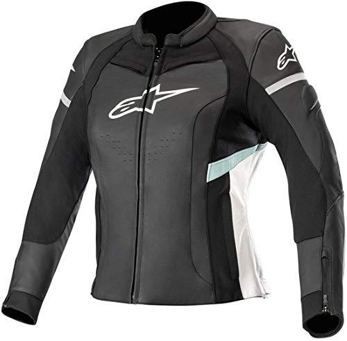 Chaqueta moto de cuero para mujer de Alpinestars – Stella Kira negro y blanco
