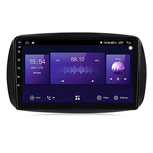 Coche estéreo GPS para vehículo Benz Smart 2014-2020 Radio GPS navegación capacitiva táctil HD Carplay Radio Multimedia Sistema de radio incorporado Tracker, 4Core 4G+WIFI: 1+16G