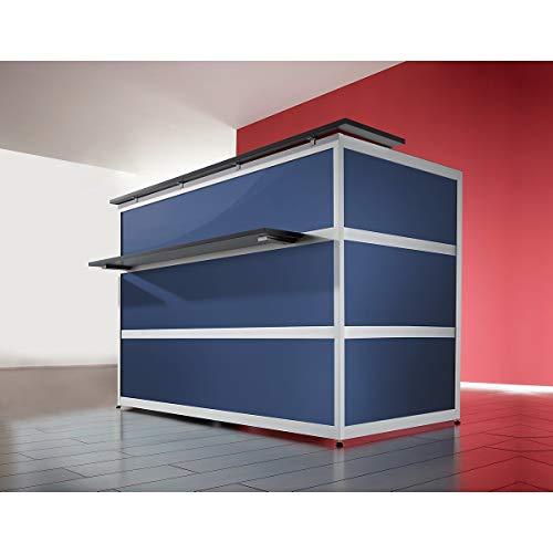 Banque d'accueil de base Tools - forme droite, plateau coloris anthracite - verre synthétique satiné -