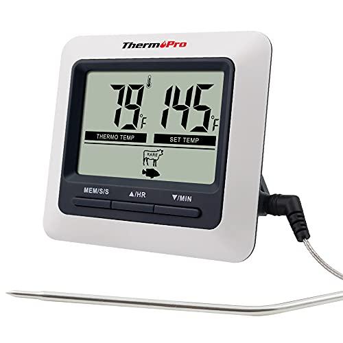 ThermoPro TP04 Termómetro Digital de Cocina para Alimentos...
