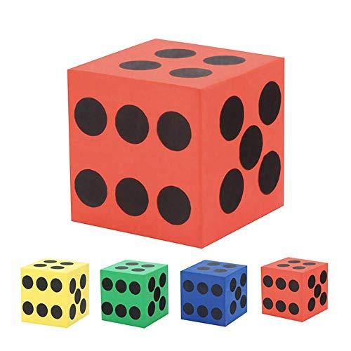 U/K Eva Foam Dice Six Sided Spot Dice - Juego infantil de bloques de aprendizaje suave, resistente y práctico