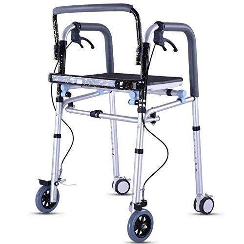 ZYQDRZ Marco para Caminar Plegable De Aleación De Aluminio, Andador con Andador con Ruedas, Utilizado para Viajar Y Comprar para Los Ancianos
