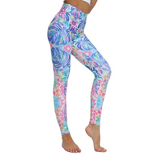 QTJY Pantalones de Yoga Transpirables y de Secado rápido Leggings elásticos de Cintura Alta Leggings Deportivos para Correr al Aire Libre A XL