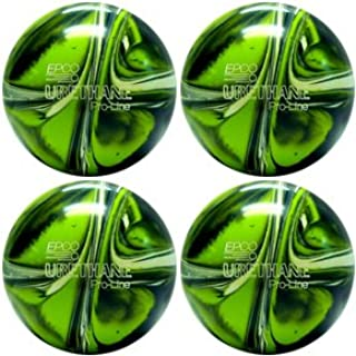 EPCO Candlepin Bowling Ball- Urethane Pro-Line - Lime Green, White & Navy Four Ball