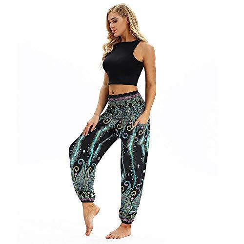 Sunday Damen Yogahosen Sporthose High Waist Haremshose Elastic Lose Freizeithose Gymnastikhose Lässige Jogginghose Trainingshose Sweathose Sportswear