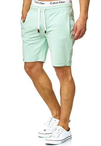 Indicode Caballero Aldrich Pantalones Cortos de Sudadera con Interior Polar y cordón   Corto Pantalón Shorts De Deporte chándal Sweat Pants Entrenamiento para Hombres Surf Spray XL