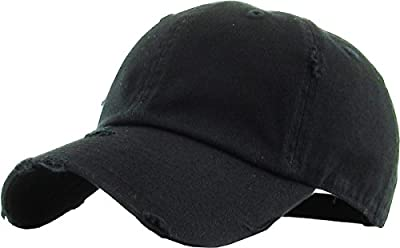 KBETHOS Vintage Washed Distressed Cotton Dad Hat Baseball Cap Adjustable Polo Trucker Unisex Style Headwear