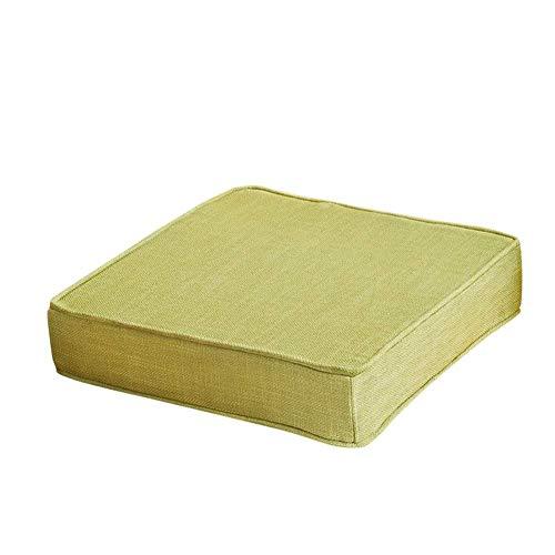 Cojín de asiento Sobrecosado cuadrado, esponja espesando cojines para silla muebles de patio almohadillas de asiento de suelo alimento para piezas de silla al aire libre para exteriores Greena 55x55x5