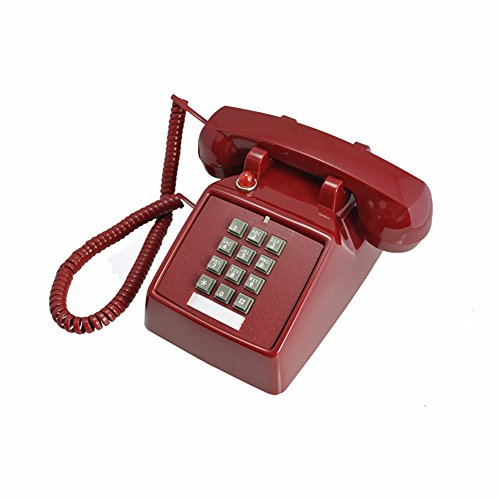 NYDZDM klassieke telefoon zwart retro jaren 70 vintage stijl met traditionele deurbel en wijzerplaat met drukknop - past standaard telefoonaansluiting