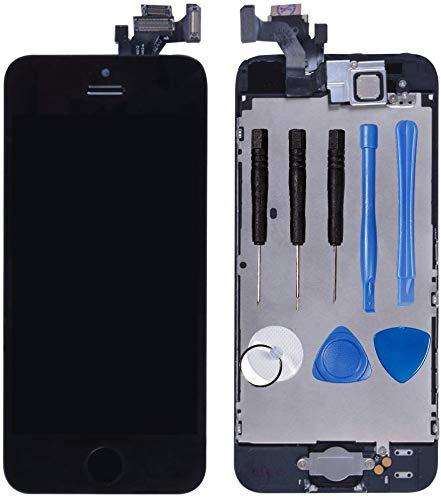 LL TRADER Nero Display per iPhone 5 5G Schermo LCD Touch Screen Digitizer Parti di Ricambio (Con Home Pulsante, Fotocamera, Sensore Flex) Utensili Inclusi