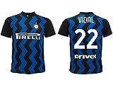 Maglia Vidal Inter 2021 Home Ufficiale 2020-2021 Adulto Ragazzo Bambino Arturo nerazzurra (XL)