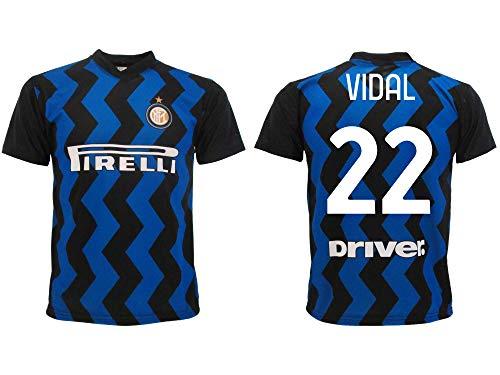 Maglia Vidal Inter 2021 Home Ufficiale 2020-2021 Adulto Ragazzo Bambino Arturo nerazzurra (2 Anni)