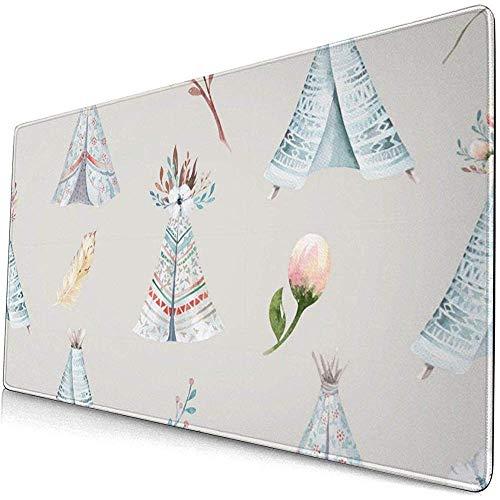 Aquarel behang met bloesem bloemen muismat muismat muismat anti-slip rubber duurzaam