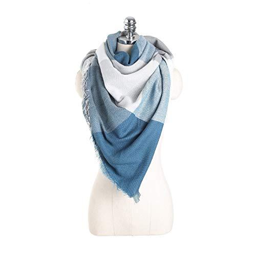Alvnd Sjaals voor vrouwen, warme wintermode sjaals, klassieke plaid zachte tartan blanket-sjaalverpakking, vrouwen winter-roddelsjaal 140 * 140cm Colour 6