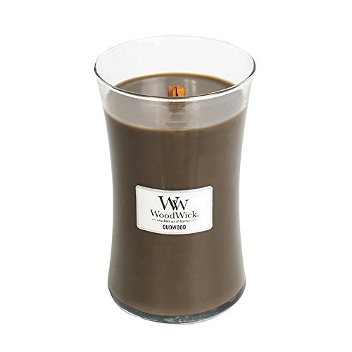 WoodWick Oudwood Glass Jar Scented Candle, Large 22 oz.