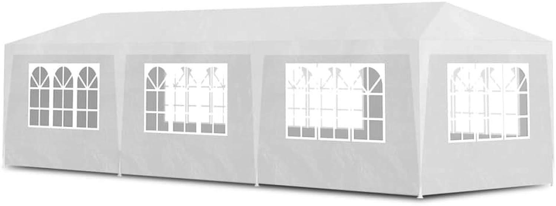 VidaXL Party Tent 3x9m with 8 Walls White Patio Garden Gazebo Marquee Pavilion