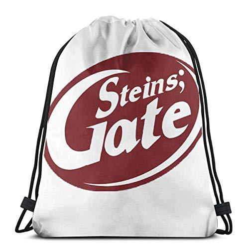 XCNGG Steins; Gate - Mochila con cordón para bolsa de deporte para bebidas intelectuales Saco de gimnasio