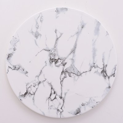 YUWANW Plaque ronde en céramique marbre - Plateau à sushi - Assiette à petit-déjeuner - Plateau de découpe - 10 pouces