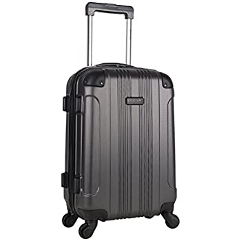 Kenneth Cole Reaction Out Of Bounds Luggage Collection Lightweight Durable Hardside 4-Wheel Spinner Travel Suitcase Bags Charcoal 20-Inch Carry On
