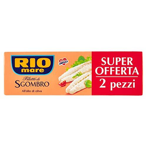 Rio Mare - Filetti di Sgombro all'Olio di Oliva, Ricchi di Omega 3, 2 Lattine da 125 g