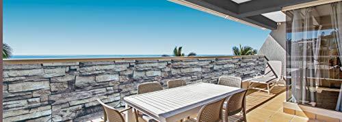 Deco4Me balkonscherm 90x300cm privacy windscherm balkonbekleding hek steen
