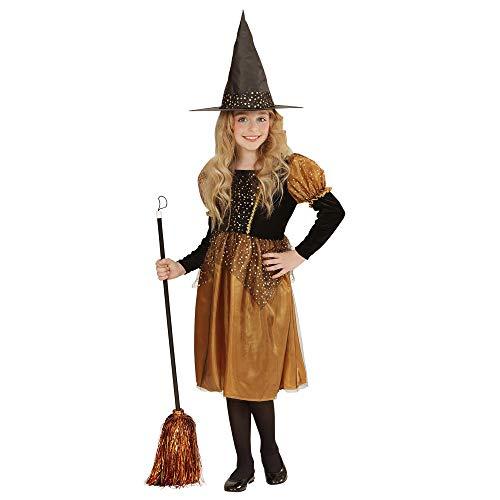 WIDMANN- Bruja con Sombrero Disfraz para niño, Multicolor, L (00208)