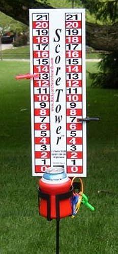 Backyard Scoreboards scoretower Anzeigetafel & Drinkholder für Bocce Ball