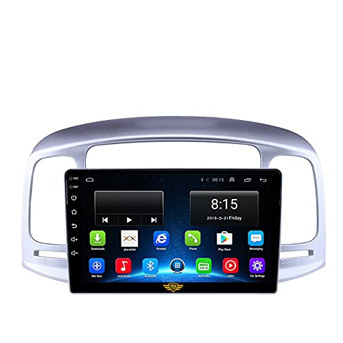 """Ateen Hyundai Old Verna 9"""" inch Double din Android Music System/Player/Stereo with 2GB Ram/16GB ROM/Bluetooth/Navigation/USB/Radio System/Split Screen/Mirror Link Support iOS/Android"""