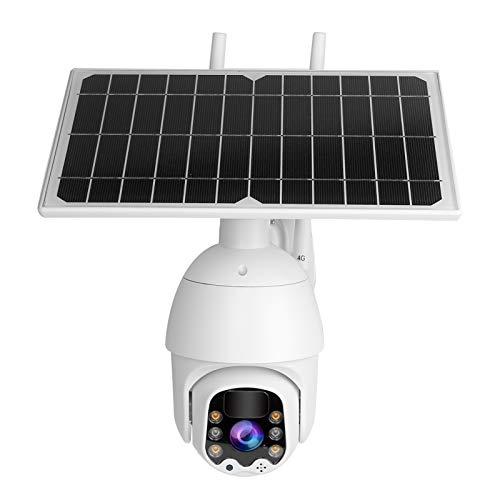 Jeanoko Sistema de CCTV de cámara Grabación Continua Solar 1080P PTZ para Varios entornos al Aire Libre para el Sistema de protección de Seguridad en el hogar(European Frequency Band)