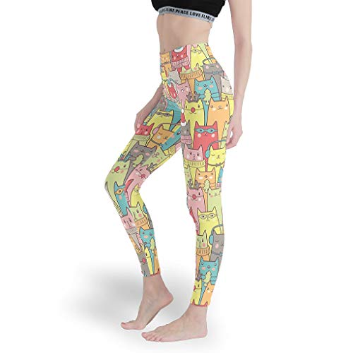 Mädchen Digitaldruck Leggings Spaß Yoga Hosen Elastischer Knöchel Capris Tights für Gym White 2XL