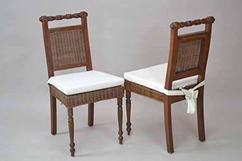 Heinz Hofmann 8350.KI Sitzkissen 2er-Set / Baumwolle / Beigefarben / B. 44 x T. 43 x H. 5 cm